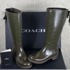 Coach rain/ snow boots